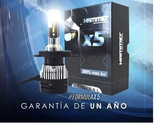 Bombillo Hammer Automotriz X5 H3 Hiled 300% More Light 60W / 6000Lm