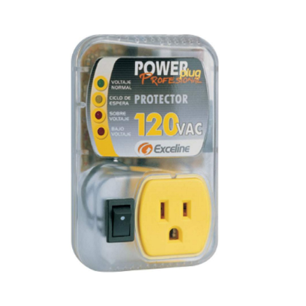 [GSM-RE120A/3] Protector Exceline Monofásico Enchufable Power Plug 120VAC